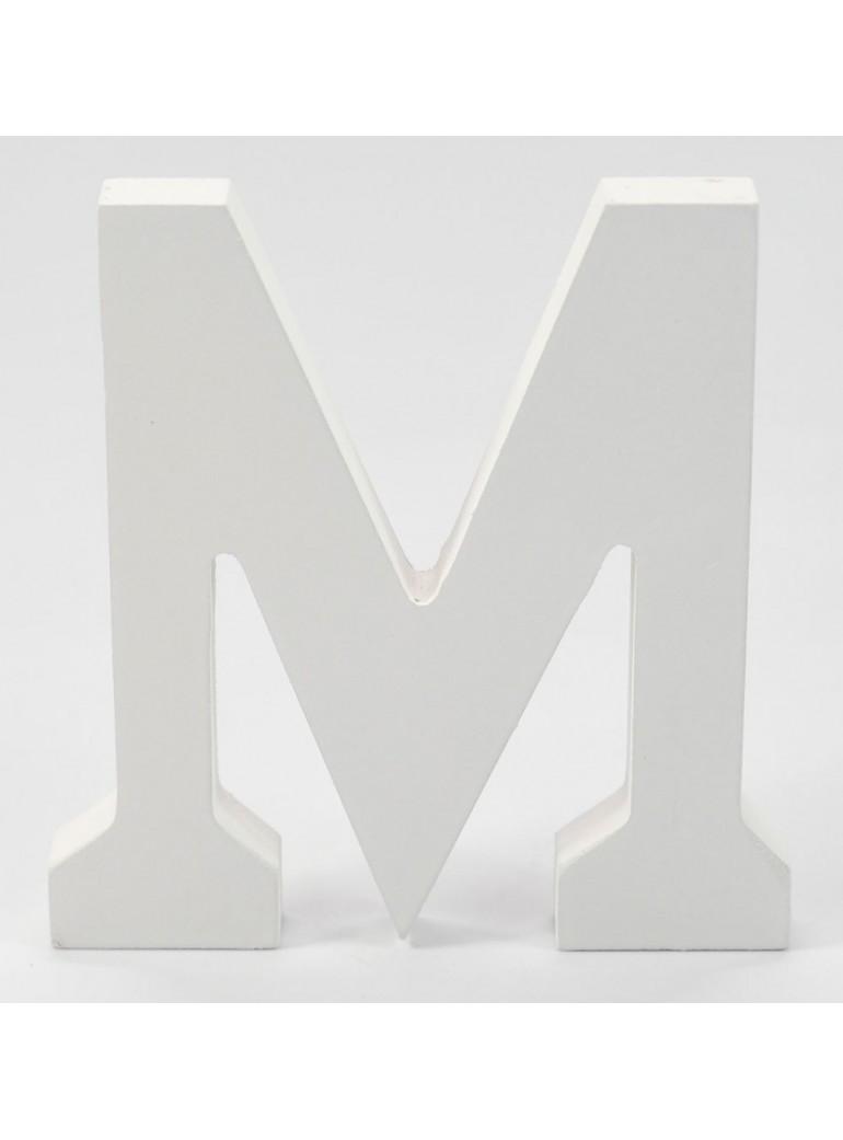 LETRAS DE MADERA 11CM. M