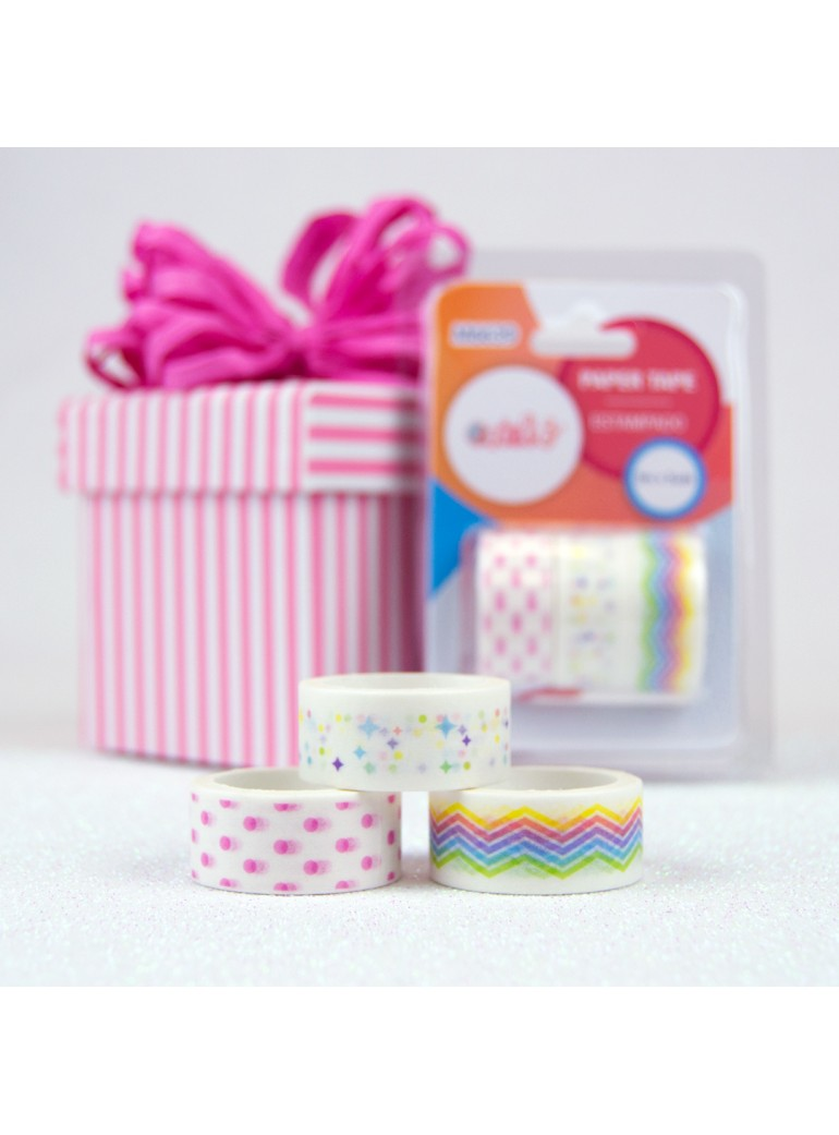 PAPER TAPE COLORES 3 UDS
