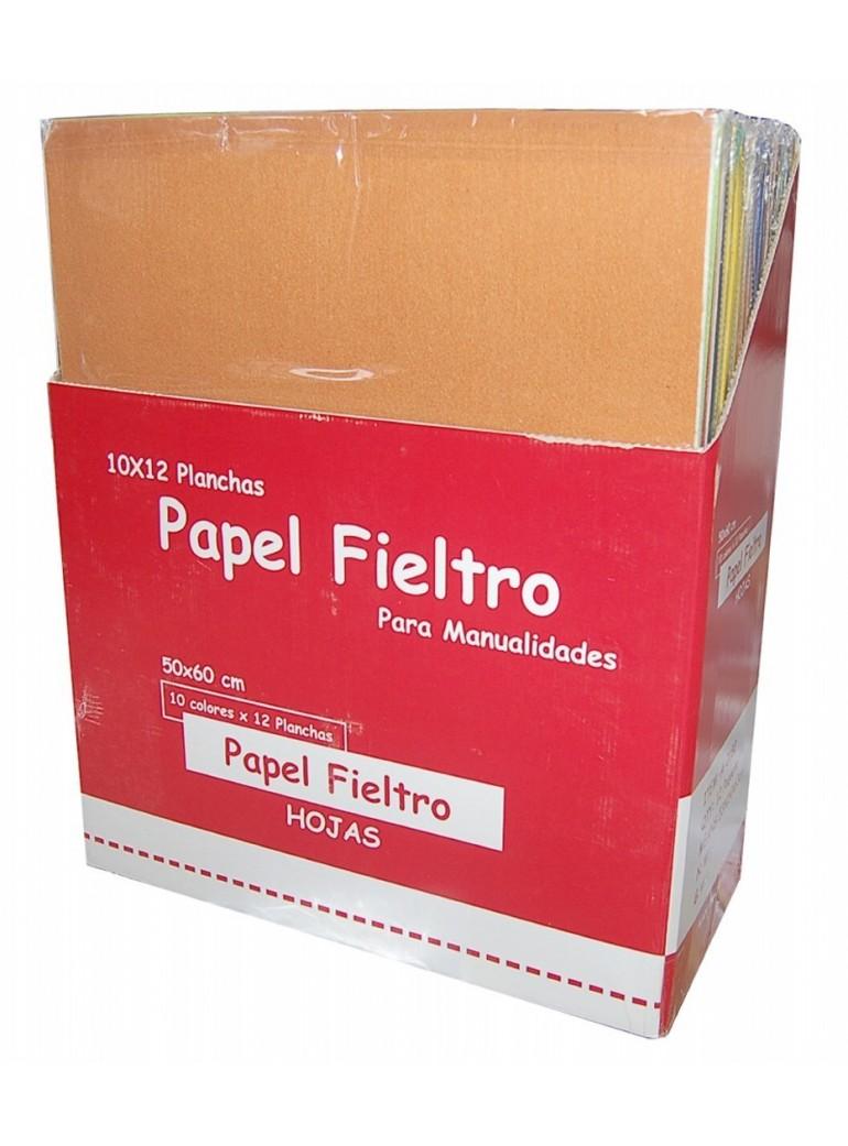 PAPEL FIELTRO 40*60cm P.10 BURDEOS
