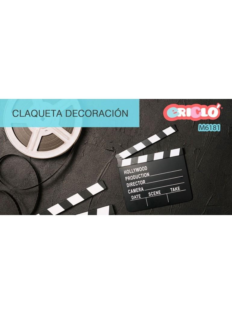CLAQUETA CINE DECORATIVA DE...